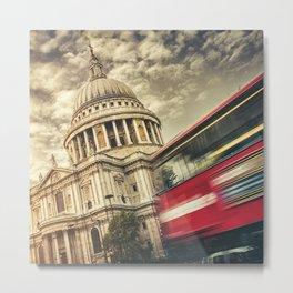 st. paul with bus Metal Print