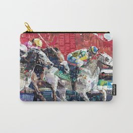 Abstract Race Horses Collage                                         Carry-All Pouch