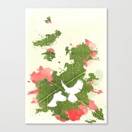 Leaf Bird Canvas Print