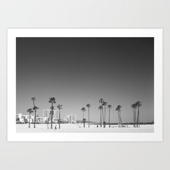 Palm Tree Beach Art Print