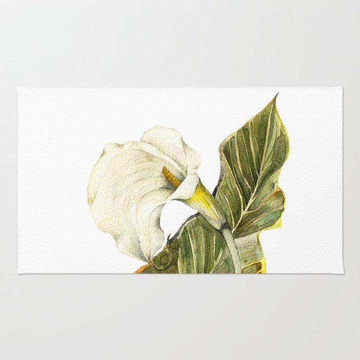 White Calla Lily Rug