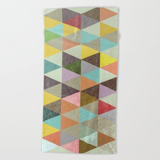 Triangles XXI Beach Towel