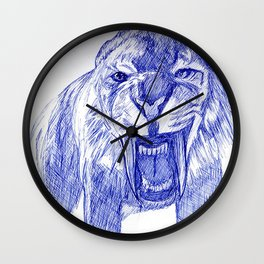 Saber Tooth Tiger. Wall Clock