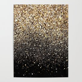 Black & Gold Sparkle Poster