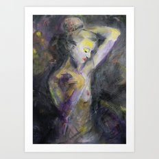 Nude in Lavender Art Print