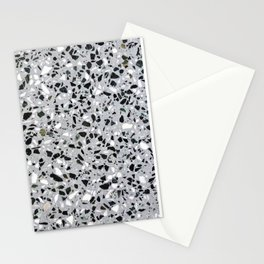 Concrete terrazzo marble texture speckle pattern gray Stationery Cards