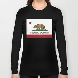 Stockton California Republic Flag Long Sleeve T-shirt