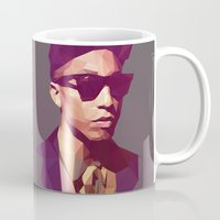 hip hop Mugs featuring Hip hop poly by Breno Bitencourt