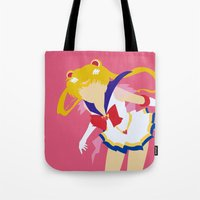 sailor moon Tote Bags featuring Sailor Moon by Polvo