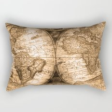 World Map Antique Vintage Maps Rectangular Pillow