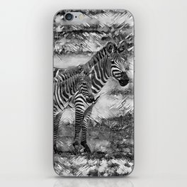 AnimalArtBW_Zebra_20170716_by_JAMColorsSpecial iPhone Skin