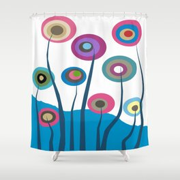 Artsy and Funky Floral Art Shower Curtain