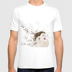 kylie and the butterlies  White Mens Fitted Tee MEDIUM