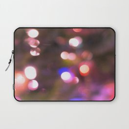 Colored Lights, Bokeh, White, Blue, Pink, Laptop Sleeve