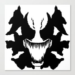 Venom Ink Blot Canvas Print