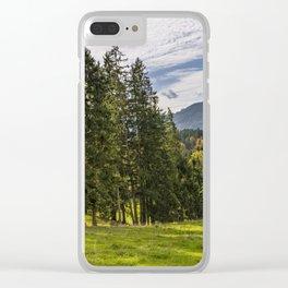 Alpine Landscape Clear iPhone Case