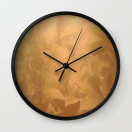 Brushed Copper Metallic - Beautiful - Rustic Glam - Fancy Faux Finishes - Unique Wall Clock