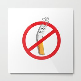 no smoking symbol Metal Print