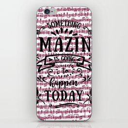 Notes are the building blocks of much written music iPhone Skin