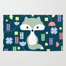 Fox among flowers Rug