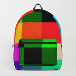 Squares of different pastel colors. Backpack