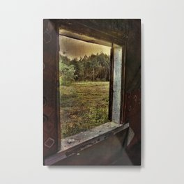 Window in an old abounded farm house Metal Print
