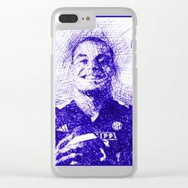 Dak Prescott Face Drawing Clear iPhone Case