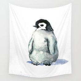 Baby Penguin, children animal illustration penguin design penguin lover gift Wall Tapestry