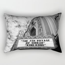 The Castro Theatre in Black & White (San Francisco) Rectangular Pillow