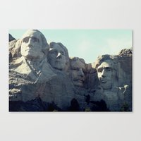 rushmore Canvas Prints featuring Rushmore by Stetsathon