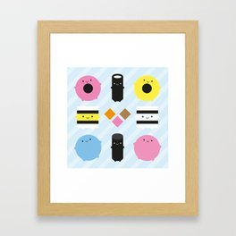 Kawaii Candy Liquorice Allsorts Framed Art Print