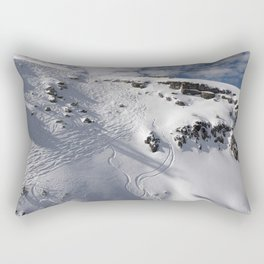 Ski Slopes Rectangular Pillow
