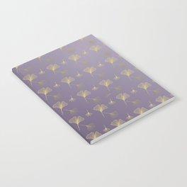 Ginkgo Purple Gold Notebook