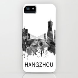 Hangzhou China Skyline BW iPhone Case