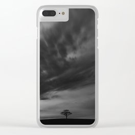 Moonlight Solitude Clear iPhone Case