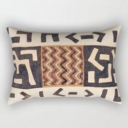 Kuba Congo Central African Wraparound Skirt Print 2 Rectangular Pillow