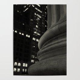 Columns at Night Poster