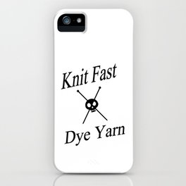 Knit Fast X Dye Yarn iPhone Case