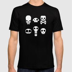 All skulls, all the time. Black Mens Fitted Tee MEDIUM