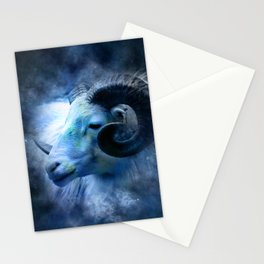 Ram in the Stars (Aries) Stationery Cards