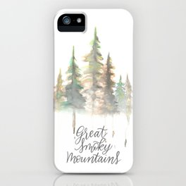 Great Smoky Mountains Watercolor iPhone Case