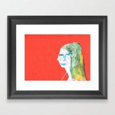 Helga in profile in full face Framed Art Print