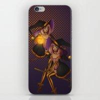 hocus pocus iPhone & iPod Skins featuring Hocus Pocus by Liara K Crane