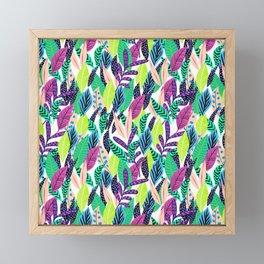 Cute pattern Whimsical Colorful Leaves Framed Mini Art Print