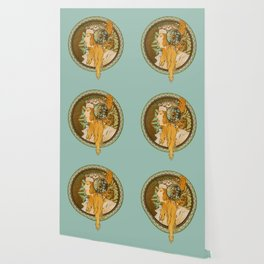 "Alphonse Mucha ""Byzantine Head: The Blonde"" edited Wallpaper"