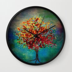 Autumn Tree Wall Clock