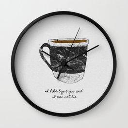 I Like Big Cups, Coffee Illustration Wall Clock