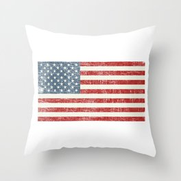 Star Spangled Banner Antique American Flag Old Glory Throw Pillow