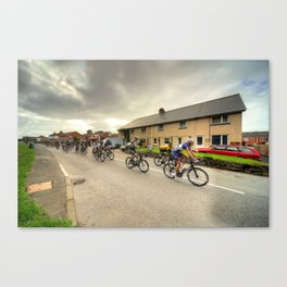 The Tour of Britain at Willand  Canvas Print