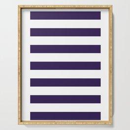 dark purple stripes Serving Tray
